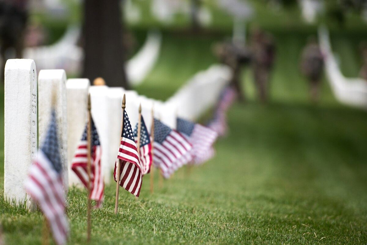 Memorial Day- Flags at Cemetery