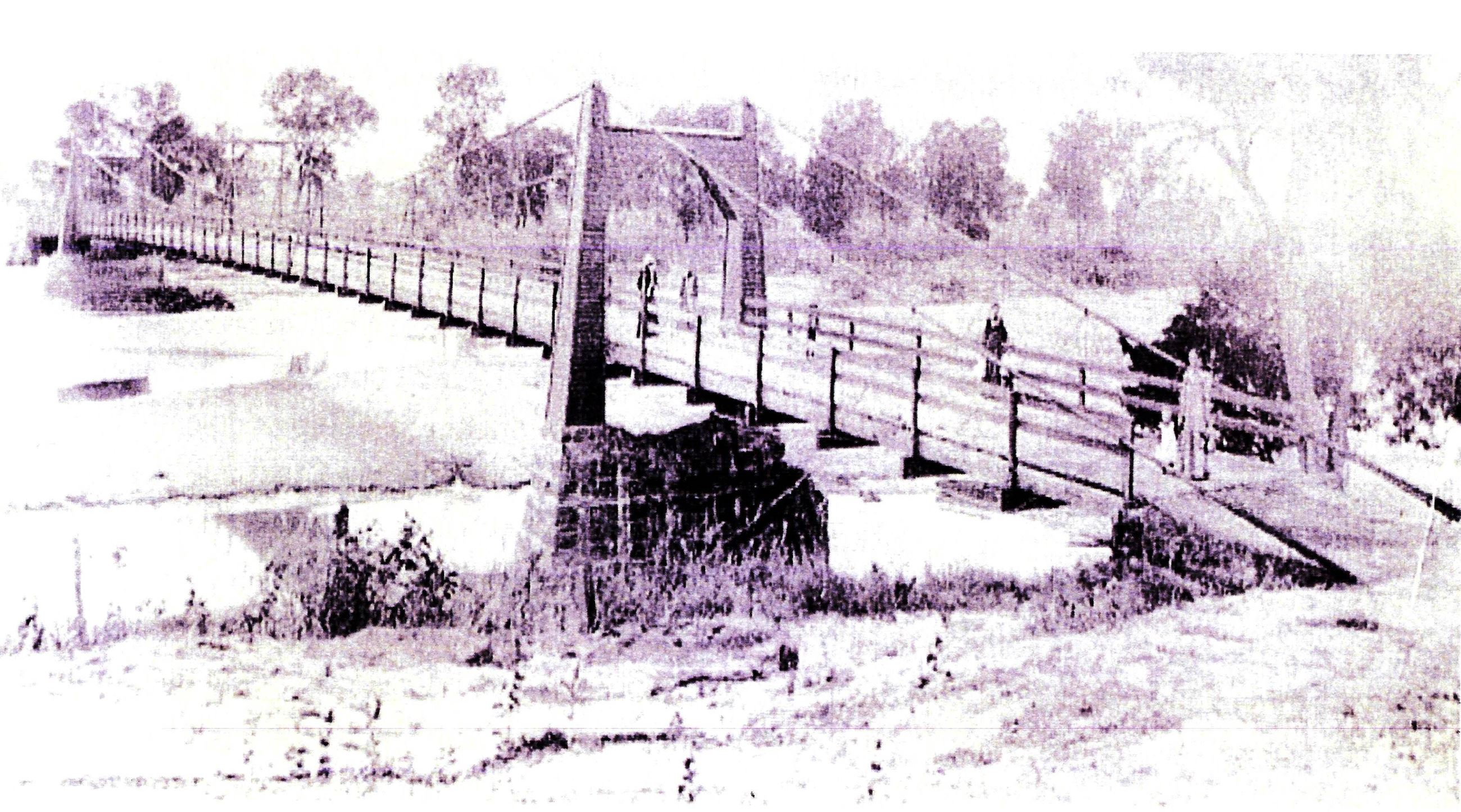 Bridge over the South Canadian River in Noble. Washed out by the flood of 1904.